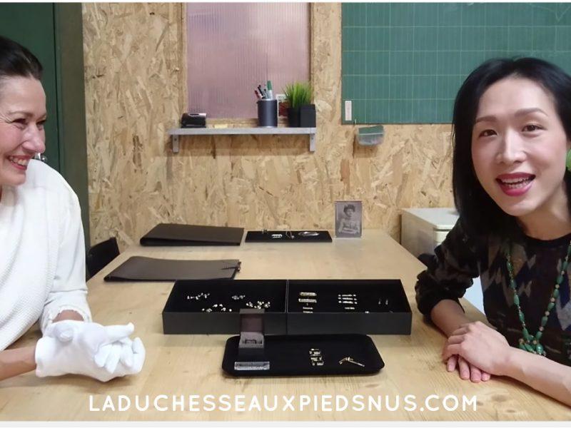 Sony Chan est venue découvrir l'atelier de LA DUCHESSE AUX PIEDS NUS